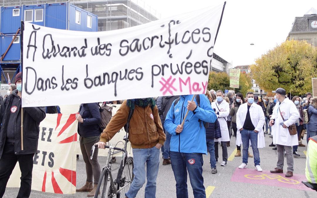 à quand des sacrifices dans les banques privées manifestation fonction publique 29 octobre 2020